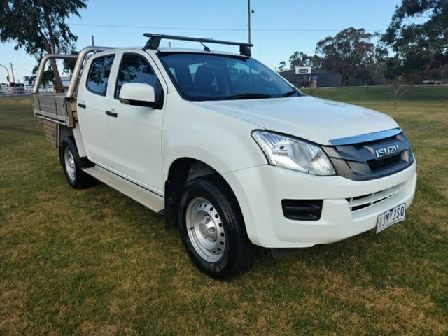 Used Isuzu D-MAX MY17 SX Crew Cab 4x2 High Ride Ravenhall, 2016 Isuzu D-MAX MY17 SX Crew Cab 4x2 High Ride Splash White 6 Speed Sports Automatic Cab Chassis
