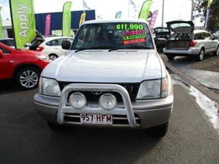 1999 Toyota Landcruiser Prado GXL White 5 Speed Manual Wagon.