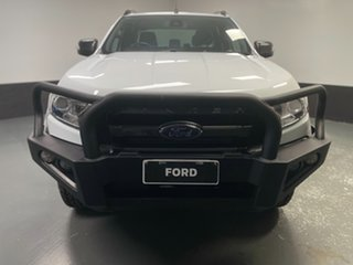 2018 Ford Ranger PX MkII 2018.00MY Wildtrak Double Cab Frozen White 6 Speed Sports Automatic Utility.