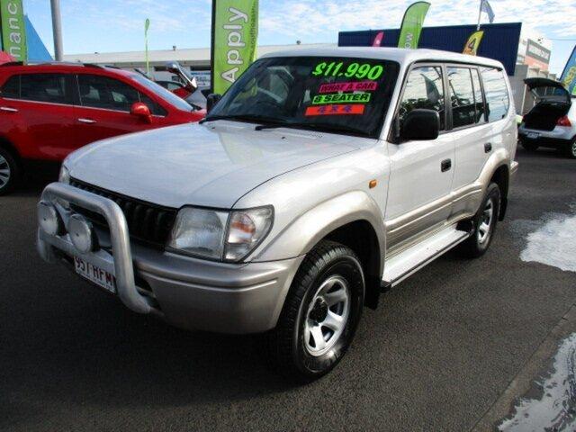 Used Toyota Landcruiser GXL Woodridge, 1999 Toyota Landcruiser Prado GXL White 5 Speed Manual Wagon