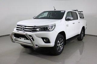 2015 Toyota Hilux GUN126R SR5 (4x4) White 6 Speed Manual Dual Cab Utility.