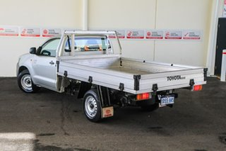 2011 Toyota Hilux TGN16R MY12 Workmate Sterling Silver 4 Speed Automatic Cab Chassis.