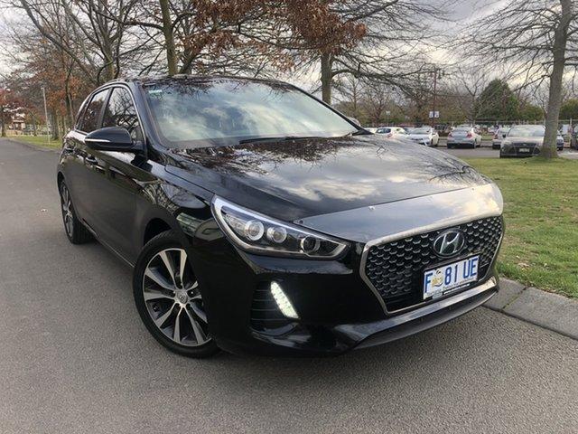 Used Hyundai i30 PD MY18 Premium D-CT Launceston, 2017 Hyundai i30 PD MY18 Premium D-CT Black 7 Speed Sports Automatic Dual Clutch Hatchback