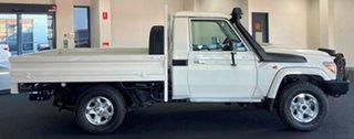 2021 Toyota Landcruiser VDJ79R GXL White 5 Speed Manual Cab Chassis.