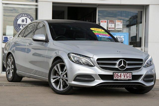 Used Mercedes-Benz C-Class W205 C200 7G-Tronic + Beaudesert, 2014 Mercedes-Benz C-Class W205 C200 7G-Tronic + Silver 7 Speed Sports Automatic Sedan