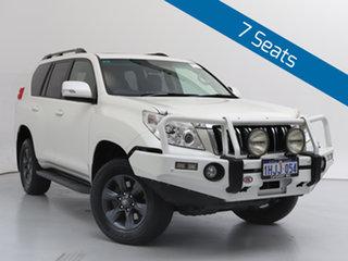 2012 Toyota Landcruiser Prado KDJ150R 11 Upgrade Altitude (4x4) White 5 Speed Sequential Auto Wagon.