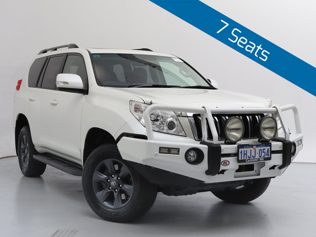 Used Toyota Landcruiser Prado KDJ150R 11 Upgrade Altitude (4x4), 2012 Toyota Landcruiser Prado KDJ150R 11 Upgrade Altitude (4x4) White 5 Speed Sequential Auto Wagon