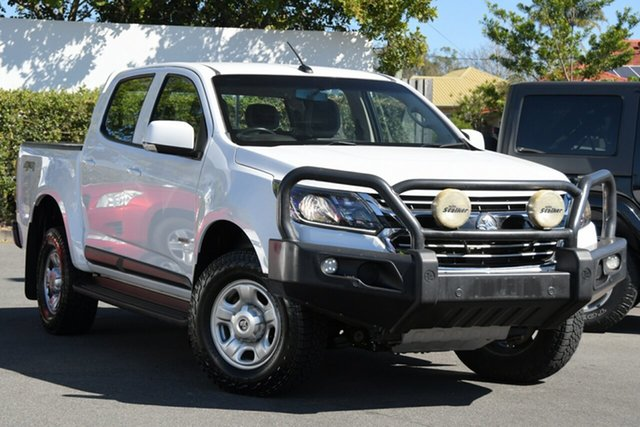 Used Holden Colorado RG MY19 LS Pickup Crew Cab Mount Gravatt, 2019 Holden Colorado RG MY19 LS Pickup Crew Cab White 6 Speed Sports Automatic Utility
