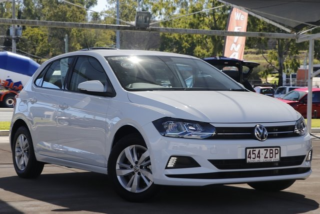Used Volkswagen Polo AW MY19 85TSI DSG Comfortline Bundamba, 2019 Volkswagen Polo AW MY19 85TSI DSG Comfortline Pure White 7 Speed Sports Automatic Dual Clutch