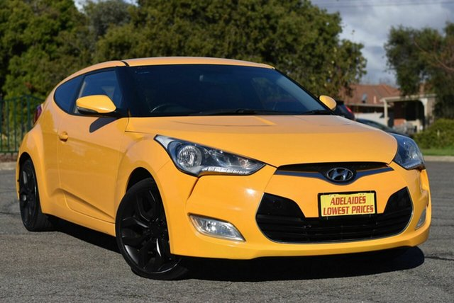 Used Hyundai Veloster FS2 Coupe Enfield, 2012 Hyundai Veloster FS2 Coupe Yellow 6 Speed Manual Hatchback