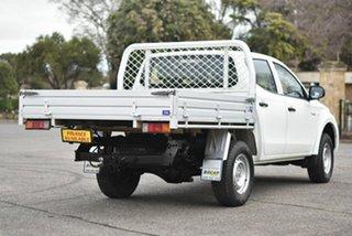 2018 Mitsubishi Triton MQ MY18 GLX Double Cab White 5 Speed Sports Automatic Cab Chassis