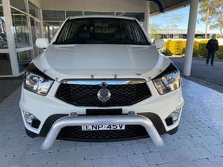 2012 Ssangyong Actyon Sports SPR White Sports Automatic Dual Cab Utility.