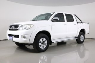 2011 Toyota Hilux GGN25R MY11 Upgrade SR5 (4x4) White 5 Speed Automatic Dual Cab Pick-up.