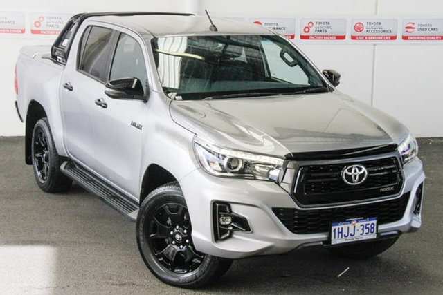 Pre-Owned Toyota Hilux GUN126R Rogue (4x4) Myaree, 2018 Toyota Hilux GUN126R Rogue (4x4) Silver Sky 6 Speed Automatic Dual Cab Utility