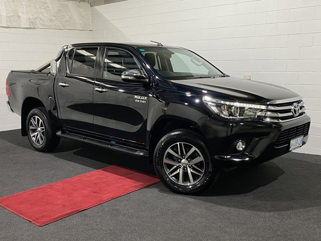 Used Toyota Hilux GUN126R SR5 Double Cab Glenorchy, 2017 Toyota Hilux GUN126R SR5 Double Cab Black 6 Speed Sports Automatic Utility