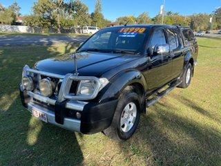 2007 Nissan Navara D40 ST-X Black 6 Speed Manual Utility.