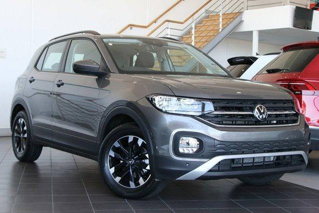 New Volkswagen T-Cross C1 MY21 85TSI DSG FWD Life Wangara, 2021 Volkswagen T-Cross C1 MY21 85TSI DSG FWD Life Limestone Grey 7 Speed