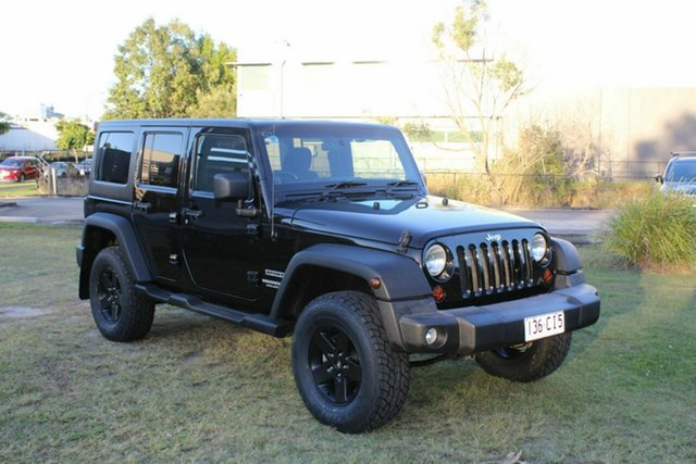 Used Jeep Wrangler JK MY2010 Unlimited Sport Ormeau, 2011 Jeep Wrangler JK MY2010 Unlimited Sport Black 6 Speed Manual Softtop