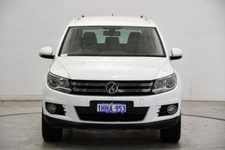 2015 Volkswagen Tiguan 5N MY15 132TSI DSG 4MOTION White 7 Speed Sports Automatic Dual Clutch Wagon.