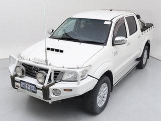2013 Toyota Hilux KUN26R MY12 SR5 (4x4) White 4 Speed Automatic Dual Cab Pick-up