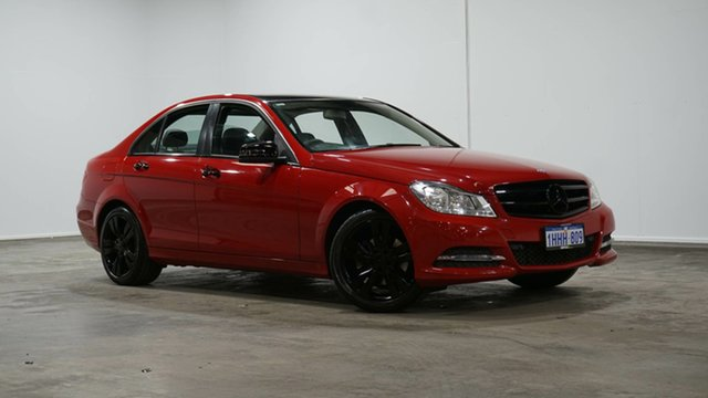 Used Mercedes-Benz C-Class W204 MY13 C200 7G-Tronic + Elegance Welshpool, 2013 Mercedes-Benz C-Class W204 MY13 C200 7G-Tronic + Elegance Fire Opal 7 Speed Sports Automatic