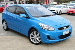 2019 Hyundai Accent RB6 MY19 Sport Blue 6 Speed Sports Automatic Hatchback.