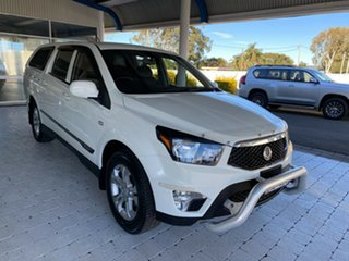 2012 Ssangyong Actyon Sports SPR White Sports Automatic Dual Cab Utility