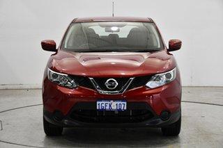 2016 Nissan Qashqai J11 ST Burgundy 1 Speed Constant Variable Wagon.