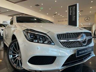 2015 Mercedes-Benz CLS-Class X218 806MY CLS250 d Shooting Brake 7G-Tronic + White 7 Speed.