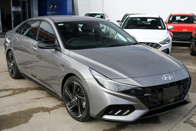 New Hyundai i30 CN7.V1 MY21 N Line D-CT Special Edition Beaudesert, 2021 Hyundai i30 CN7.V1 MY21 N Line D-CT Special Edition Fluid Metal 7 Speed