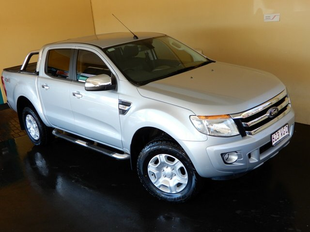 Used Ford Ranger PX XLT 3.2 (4x4) Toowoomba, 2014 Ford Ranger PX XLT 3.2 (4x4) Silver 6 Speed Automatic Double Cab Pick Up