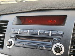 2010 Mitsubishi Lancer CJ MY11 SX Blue 6 Speed Constant Variable Sedan