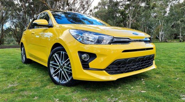 New Kia Rio YB MY21 SX Nuriootpa, 2021 Kia Rio YB MY21 SX Mighty Yellow 6 Speed Automatic Hatchback