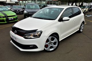 2011 Volkswagen Polo 6R MY11 GTI DSG White 7 Speed Sports Automatic Dual Clutch Hatchback.