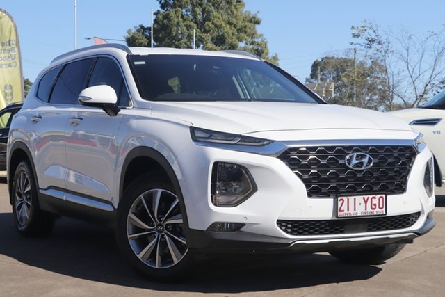 Used Hyundai Santa Fe TM MY19 Elite Bundamba, 2018 Hyundai Santa Fe TM MY19 Elite White 8 Speed Sports Automatic Wagon