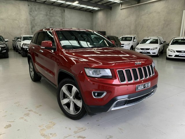 Used Jeep Grand Cherokee WK MY2014 Limited Coburg North, 2013 Jeep Grand Cherokee WK MY2014 Limited Red 8 Speed Sports Automatic Wagon