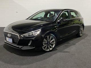 2017 Hyundai i30 PD MY18 SR D-CT Premium Black 7 Speed Sports Automatic Dual Clutch Hatchback