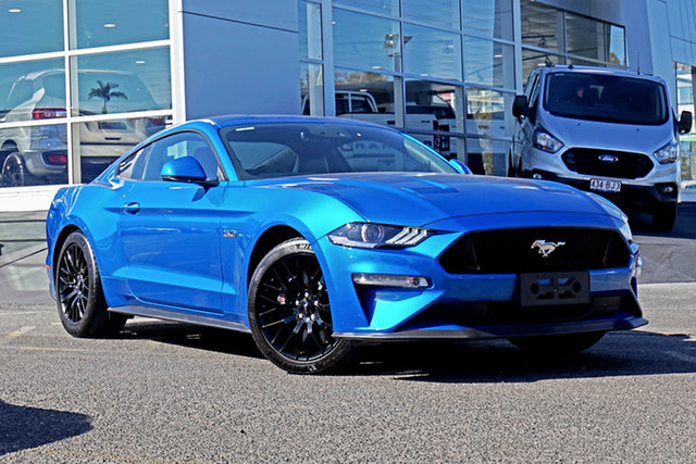 Used Ford Mustang FN 2020MY GT Springwood, 2020 Ford Mustang FN 2020MY GT Blue 6 Speed Manual Fastback