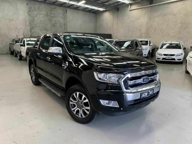 Used Ford Ranger PX MkII XLT Double Cab Coburg North, 2017 Ford Ranger PX MkII XLT Double Cab Black 6 Speed Sports Automatic Utility