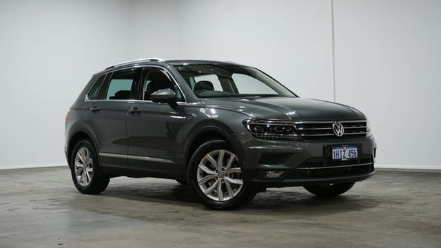 Used Volkswagen Tiguan 5N MY18 162TSI DSG 4MOTION Highline Welshpool, 2018 Volkswagen Tiguan 5N MY18 162TSI DSG 4MOTION Highline Grey 7 Speed Sports Automatic Dual Clutch