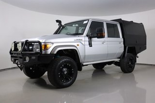2017 Toyota Landcruiser LC70 VDJ79R MY17 GXL (4x4) Silver 5 Speed Manual Double Cab Chassis.