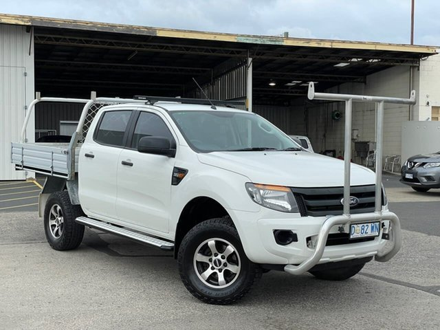 Used Ford Ranger PX XL Moonah, 2014 Ford Ranger PX XL White 6 Speed Sports Automatic Cab Chassis