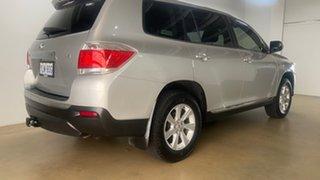 2012 Toyota Kluger GSU40R MY11 Upgrade KX-R (FWD) 5 Seat Silver 5 Speed Automatic Wagon.