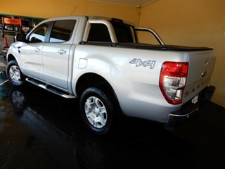 2014 Ford Ranger PX XLT 3.2 (4x4) Silver 6 Speed Automatic Double Cab Pick Up.