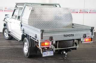 2020 Toyota Landcruiser VDJ79R GXL Double Cab French Vanilla 5 Speed Manual Cab Chassis