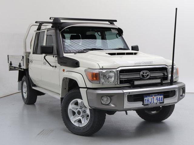 Used Toyota Landcruiser VDJ79R GXL (4x4), 2018 Toyota Landcruiser VDJ79R GXL (4x4) White 5 Speed Manual Double Cab Chassis