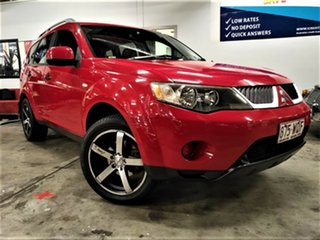 2006 Mitsubishi Outlander ZF MY07 LS Red 4 Speed Sports Automatic Wagon.