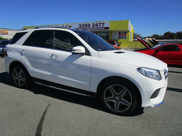 Used Mercedes-Benz GLE-Class W166 807MY GLE350 d 9G-Tronic 4MATIC Kedron, 2016 Mercedes-Benz GLE-Class W166 807MY GLE350 d 9G-Tronic 4MATIC White 9 Speed Sports Automatic
