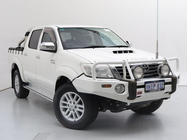 Used Toyota Hilux KUN26R MY12 SR5 (4x4), 2013 Toyota Hilux KUN26R MY12 SR5 (4x4) White 4 Speed Automatic Dual Cab Pick-up