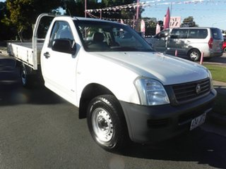 2005 Holden Rodeo RA DX White 5 Speed Manual Utility.